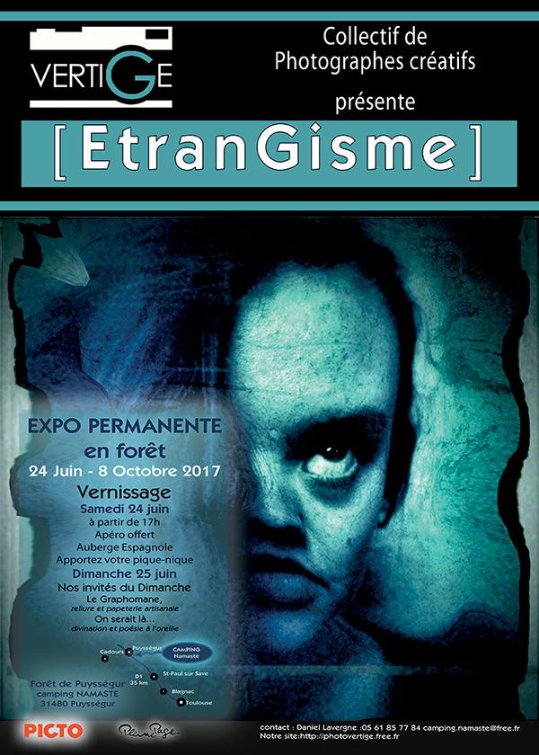 Affiche expo EtranGisme du collectif [VERTIGE]